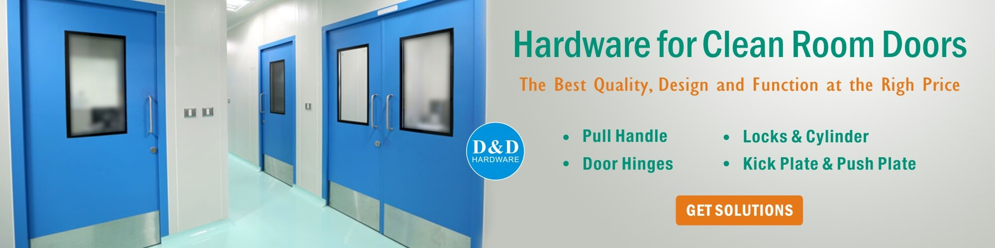 Door-Hardware for clean room doors
